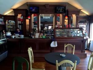 Interior of Rumors Cafe